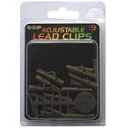 Клипсы для грузил с конусом и стопором E-S-P Adjustable Lead Clips Weedy Green