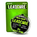 Лидкор E-S-P Leadcore 25m / 45lb - Weed Green