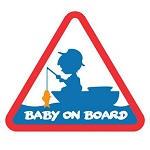 Наклейка Delphin BABY on BOARD Sticker