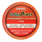 Шок лидер конусный DAM DAMYL® STEELPOWER® Tapered Leader / 0.30-0.57 mm / 12-36 lb / 10x15 m